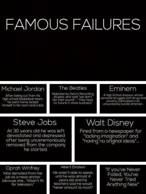 Famous Failures: Michael Jordan, the Beatles, Eminem, Steve Jobs, Walt ...