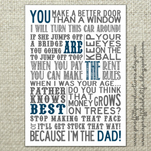 11. Father's Day Free Printable Poster by A Proffittable Life .