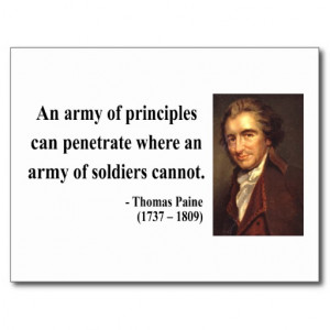 Thomas Paine Quote 4b Post Card