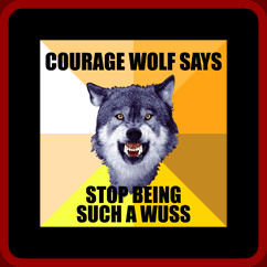 Courage Wolf Shirt