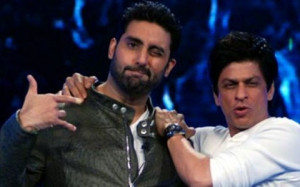 Abhishek Bachchan declines to quote fee for SRK production