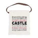 Castle Quotes Canvas Lunch Bag