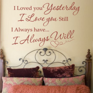 Best Family Love Quotes and Sayings in Master Bedroom Wall Decorating ...