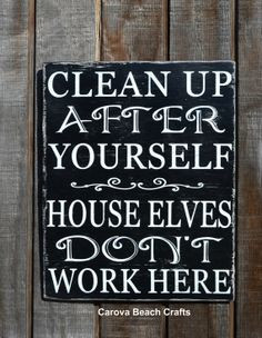 ... Decor Gift Cleaning House Elves Messy Kitchen Bathroom Dirty Family