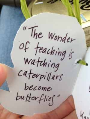 ... this into a teacher's gift? We made a little tag with this quote