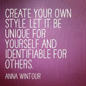Anna Wintour #fashion #quote