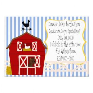 Down On the Farm Invites