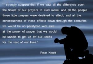Power of prayer - Peter Kreeft