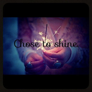 Girl Shine Firework Ring Quote