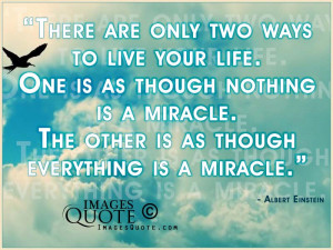 There are only two ways to live your life – Life Quote