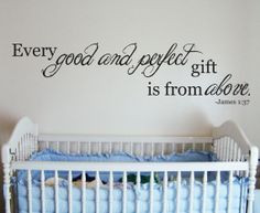 church nursery ideas decor | Good and Perfect Quote Wall Vinyl Decor ...