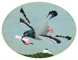 Brigette Ballager , Carrier pigeon