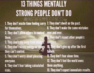 Things Mentally strong people do