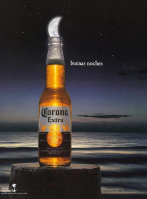 Corona Extra beer commercial - Buenas Noches - the lime looks like the ...