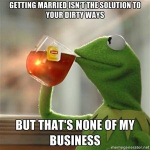 Kermit The Frog Drinking Tea