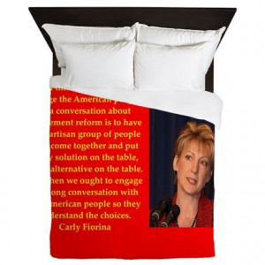 2016 Gifts > 2016 Bedroom Décor > carly fiorina quote Queen Duvet