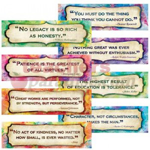 Character Quotes Mini Bulletin Board Set