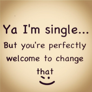 Home » Love quote pictures » Ya I'm single