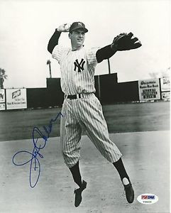 Jerry Coleman Signed Yankees 8x10 Photo PSA DNA COA HOF Picture