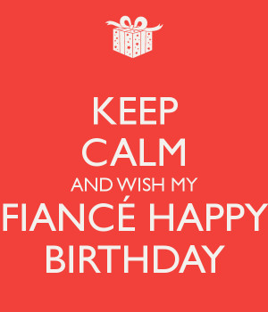 Calm And Wish Fiance Happy