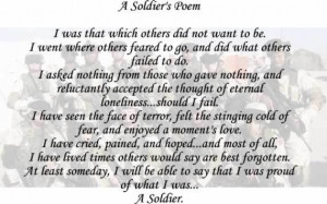 honor soldiers poem to honor our fallen poems to honor the soldier ...