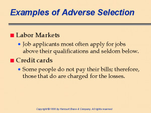 Image of Adverse selection