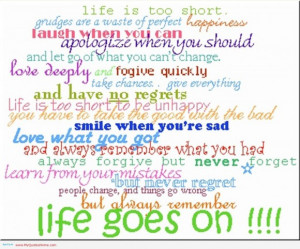 Small Quotes About Life Lessons: Life Is Short But Sundays Are Too ...