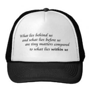 Inspirational quote unique retail product line trucker hat