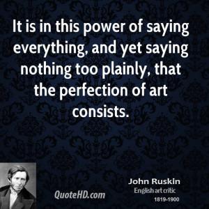 John Ruskin Nature Quotes