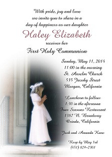 First Holy Communion - Invitations and Announcements