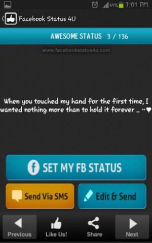 ... status, romantic facebook status messages, latest facebook status