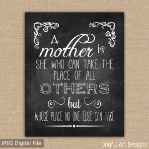 Mother's Day Chalkboard PRINTABLE. Mother Quote. Gift for Mom ...