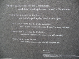 Quote at Holocaust Memorial in Boston, MA