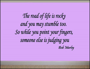The Road Of Life Is Rocky Bob Marley Quote Decal