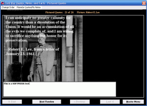Civil War Quotes, Notes, and Facts Screenshots: