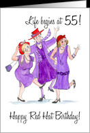 Red Hats 55th Birthday Card - Product #790487