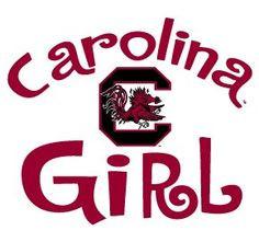 Amazon.com : South Carolina Gamecocks GIRL Clear Vinyl Decal Car Truck ...