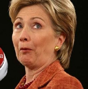 Funny Picture   Hillary Clinton With Funny Face