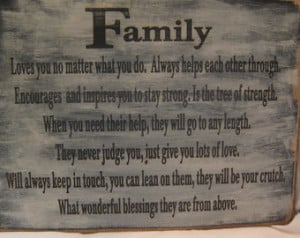 Rustic Family Sign, Great poem with so much meaning, Family is always ...
