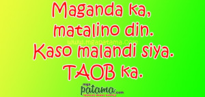 Taob Patama Quotes sa mga Malalandi
