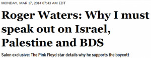 Roger Waters justifies anti-Israel boycott with fake Gandhi quote