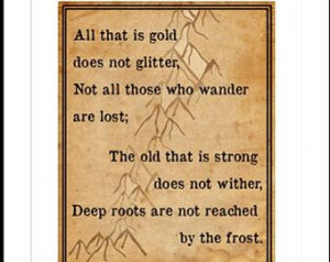 Tolkien Quote Lord of the Rings Hobbit Printable Print Your Own Wall ...