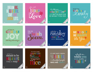 2015 wall calendar -inspirational quote