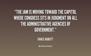 The jam is moving toward the Capitol where Congress sits in judgment ...