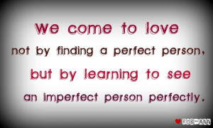 Learning to see an imperfect person perfectly