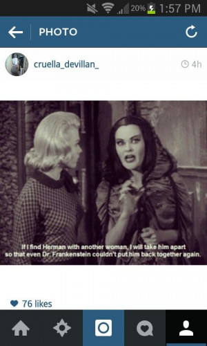 Lily Munster, Keeping It Real!