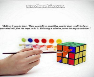 Life Improvement Quote - Solution