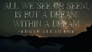 ... Vers, Edgar Allen Poe, Poetry, Poe Quotes, A Dreams, Quotes Dreams