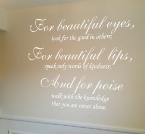 For beautiful eyes – Audrey Hepburn