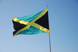 Jamaican Flag Waiving Proudly